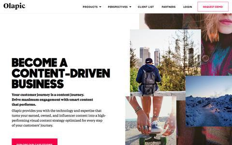 Screenshot of Home Page olapic.com - Olapic | Visual Commerce Platform | Visual Marketing Platform - Olapic | Visual Commerce & Marketing Platform - captured Oct. 11, 2017