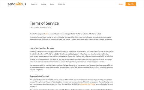 Terms of Service · sendwithus