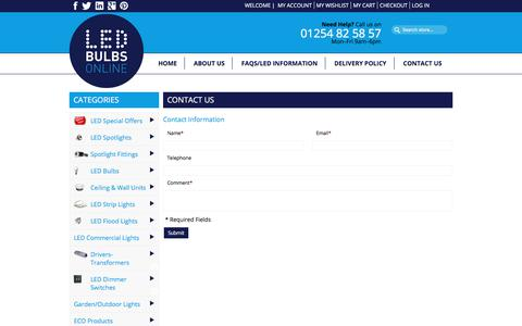 Screenshot of Contact Page led-bulbs-online.co.uk - Contact Us - captured July 8, 2017