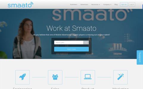 Screenshot of Jobs Page smaato.com - Jobs at Smaato - captured Dec. 4, 2015