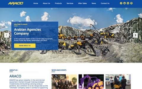Screenshot of Home Page araco.com.qa - Araco - captured Nov. 21, 2016