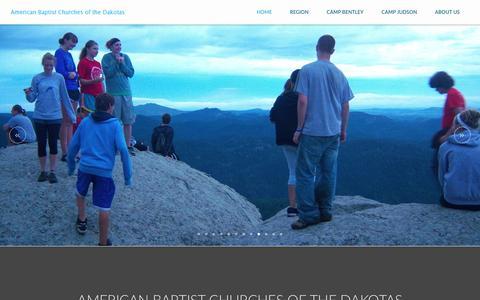 Screenshot of Home Page abc-dakotas.org - ABC Dakotas   Home - captured April 8, 2017