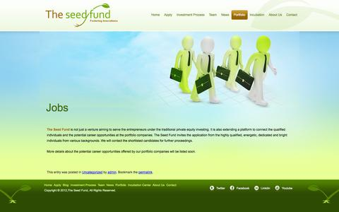 Screenshot of Jobs Page theseedfund.vc - Jobs | The Seed Fund - captured Oct. 9, 2014