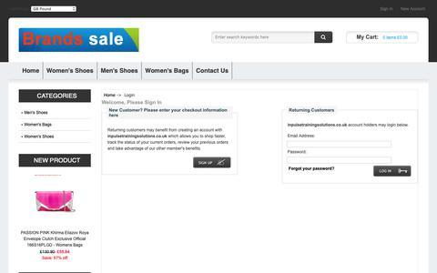 Screenshot of Login Page inpulsetrainingsolutions.co.uk - Login : Delicate colors Mens Nike Air Overplay Ix Mens Style : 831572 online discount sale - captured Nov. 6, 2018