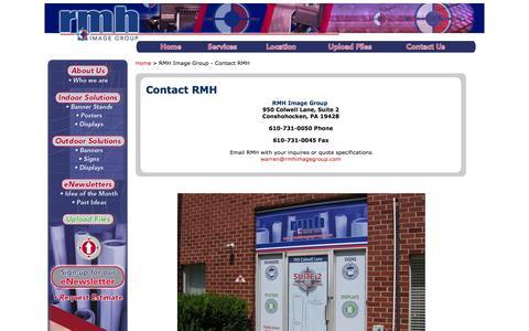 Screenshot of Contact Page rmhimagegroup.com - RMH Image Group - Contact RMH - captured Sept. 30, 2014