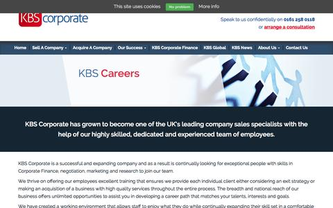Screenshot of Jobs Page kbscorporate.com - KBS Careers | Working For KBS Corporate - captured Oct. 29, 2014