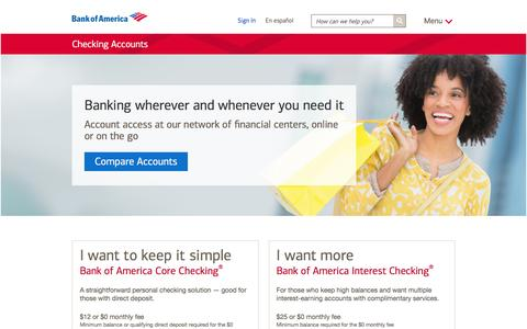 Checking Accounts - Open a Checking Account Online
