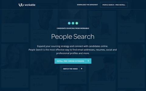 Best Recruiting Tool for Sourcing Candidates Fast: People Search