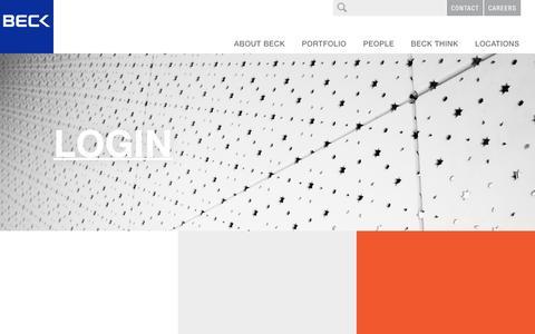 Screenshot of Login Page beckgroup.com - Login - The Beck Group - captured Dec. 3, 2016