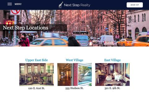 Screenshot of Locations Page thenextsteprealty.com - Locations | Next Step RealtyNext Step Realty - captured Dec. 5, 2015
