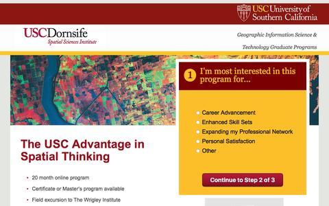 Screenshot of Landing Page usc.edu - lpppc-gist | USC GIST - captured March 1, 2016