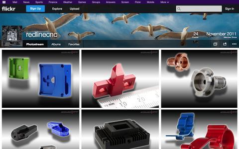Screenshot of Flickr Page flickr.com - Flickr: redlinecnc's Photostream - captured Oct. 25, 2014