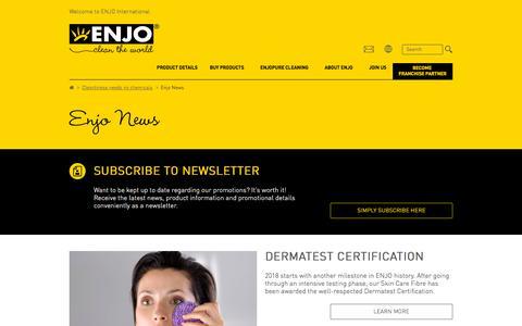 Screenshot of Press Page enjo.com - Enjo News - ENJO - captured Sept. 26, 2018