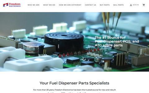 Screenshot of Home Page freedomelectronics.com - Freedom Electronics - captured Aug. 22, 2018