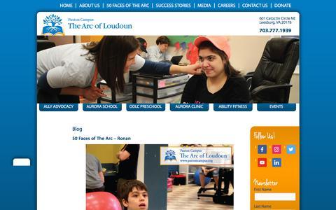 Screenshot of Blog paxtoncampus.org - Blog - The Arc of Loudoun at Paxton CampusThe Arc of Loudoun at Paxton Campus - captured July 13, 2018