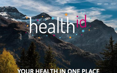 Screenshot of Home Page healthid.com - HealthID - Not your typical medical ID! - captured Feb. 21, 2016