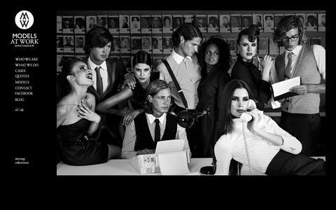Screenshot of Home Page modelsatwork.nl - Models at Work – Hostess- en Promotiebureau - captured Sept. 30, 2014