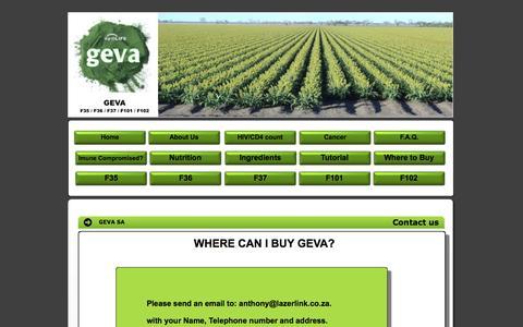 Screenshot of Contact Page geva.co.za - Contact Us - captured Nov. 6, 2016
