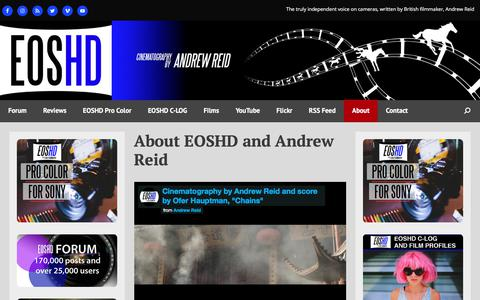 Screenshot of About Page eoshd.com - About EOSHD and Andrew Reid - EOSHD - captured June 20, 2017
