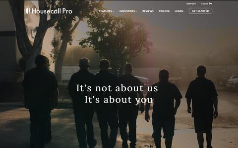 Screenshot of About Page tryhousecall.com - Housecall - About Us - captured Sept. 23, 2018