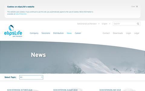 Screenshot of Press Page elipslife.com - News - elipsLife - captured Dec. 8, 2018