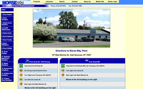 Screenshot of Maps & Directions Page morsedrum.com - Directions to Morse Mfg. - captured Nov. 30, 2016