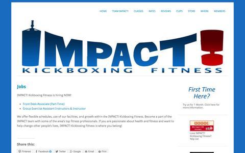 Screenshot of Jobs Page impactkbf.com - Jobs | - captured Oct. 3, 2014