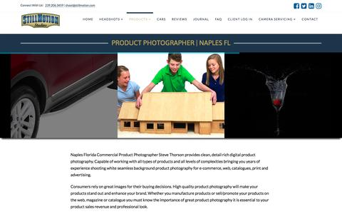 Screenshot of Products Page stillmotion.com - Product Photography | StillMotion Studios | Naples, Ft Myers, SWFL - captured Oct. 23, 2017
