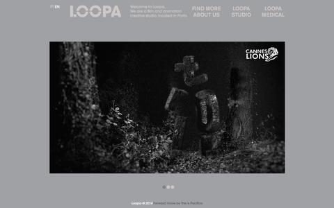 Screenshot of Home Page loopa.com.pt - Home - Loopa - captured Sept. 26, 2014