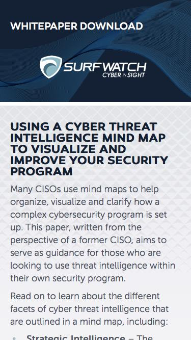 Using a Cyber Threat Intelligence Mind Map to Visualize and Improve Your Security Program