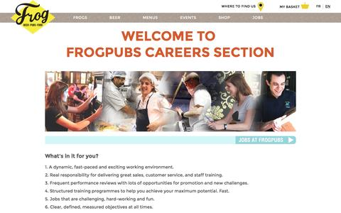 Screenshot of Jobs Page frogpubs.com - Jobs - Frogpubs - captured Aug. 4, 2016