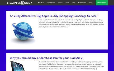 Screenshot of Blog bigapplebuddy.com - Blog Home | Big Apple Buddy - captured Jan. 3, 2016