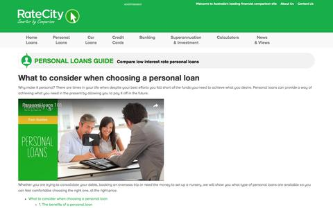 Personal Loans Guide | Hints and Tips | RateCity.com.au