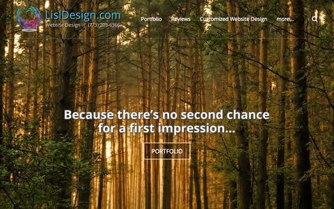 Screenshot of Home Page lisldesign.com - LislDesign.com Website Design (773) 203-6366 - Welcome - captured Sept. 20, 2015