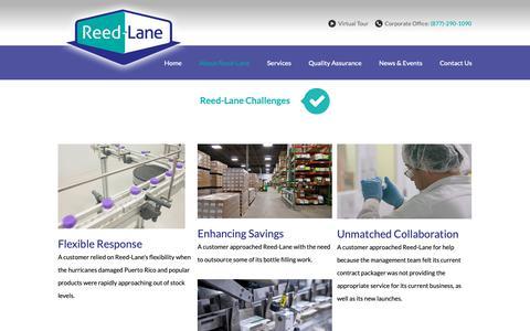 Screenshot of Case Studies Page reedlane.com - Pharmaceutical Packaging Case Studies: Reed-Lane - captured Oct. 20, 2018