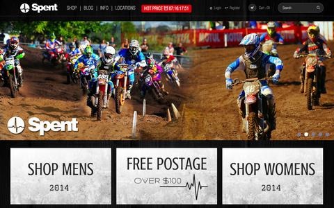 Screenshot of Home Page spentclothing.com - Online Shopping Store for Cloths and Accessories - Online Clothing stores Australia - Spent Clothing - captured Sept. 23, 2014