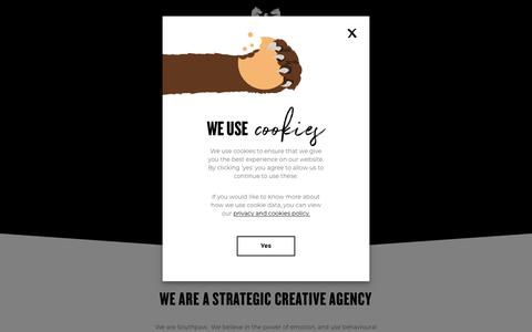 Screenshot of Home Page southpawagency.com - Southpaw | Strategic Creative Agency - captured Dec. 10, 2019
