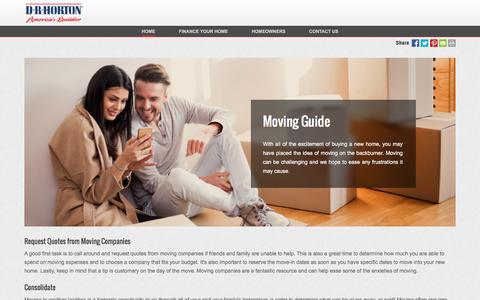 Screenshot of drhorton.com - Guide for Moving into a New Home | D.R. Horton - captured Dec. 9, 2016
