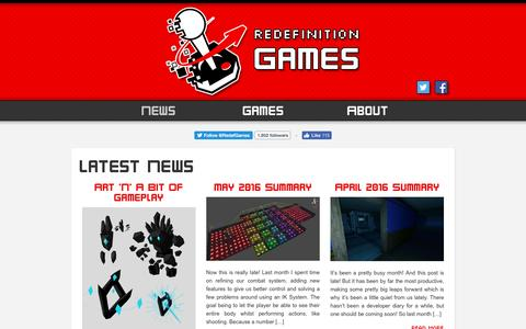 Screenshot of Press Page redefinitiongames.com - News   Redefinition Games - captured Aug. 19, 2016