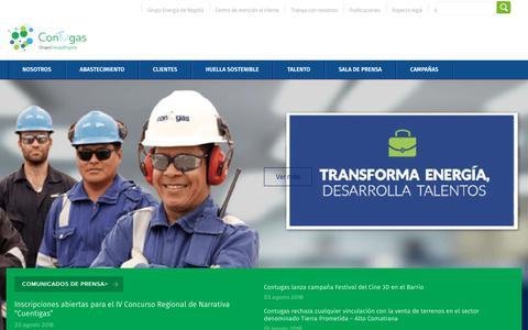 Screenshot of Home Page contugas.com.pe - Grupo Energía Bogotá - captured Nov. 5, 2018