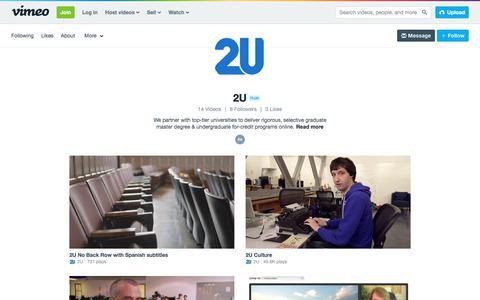 2U on Vimeo