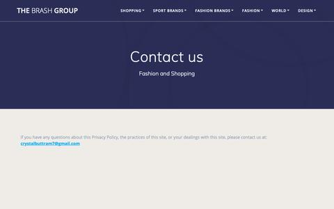 Screenshot of Contact Page thebrashgroup.com - Contact us | The Brash Group - captured Nov. 18, 2018