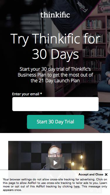 Join the 21 Day Launch Plan by Thinkific
