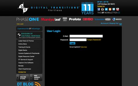 Screenshot of Site Map Page Login Page digitaltransitions.com - User Login - captured Oct. 24, 2014