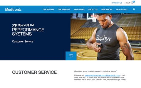 Screenshot of Support Page zephyranywhere.com - Customer Service | Zephyr™ Performance Systems - captured Dec. 28, 2016