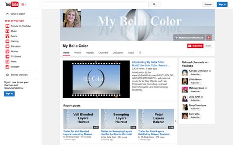 Screenshot of YouTube Page youtube.com - My Bella Color  - YouTube - captured Oct. 26, 2014