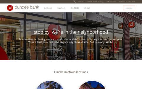 Screenshot of Locations Page dundeebanking.com - Dundee Bank - captured Oct. 9, 2018