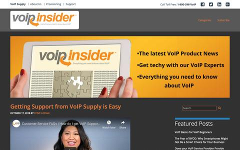Screenshot of Blog voipsupply.com - VoIP Insider - Everything You Need to Know About VoIP - captured Oct. 18, 2018