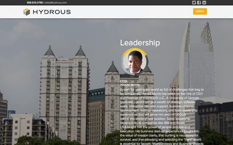 Screenshot of Team Page hydrous.com - Leadership | HYDROUS - captured Oct. 1, 2014