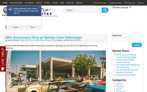 Screenshot of Blog cookvw.com - Cook VW - Official Blog - captured Aug. 4, 2017